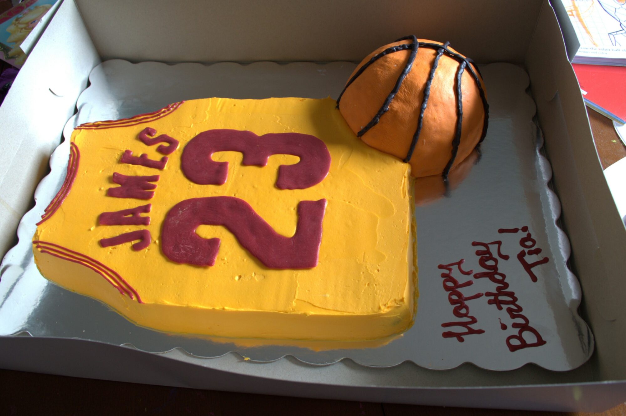 Lebron James Birthday Cake My Naturally Crazy Life